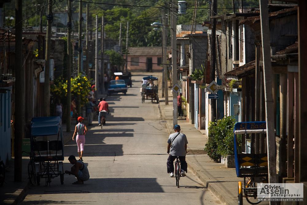 Street scene in Baracoa, Cuba on Monday July 14, 2008.