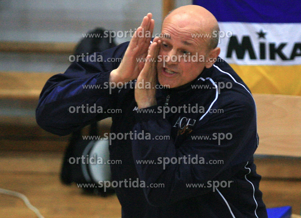 Coach of ACH Glenn Hoag at last final volleyball match of 1.DOL Radenska Classic between OK ACH Volley and Salonit Anhovo, on April 21, 2009, in Arena SGS Radovljica, Slovenia. ACH Volley won the match 3:0 and became Slovenian Champion. (Photo by Vid Ponikvar / Sportida)
