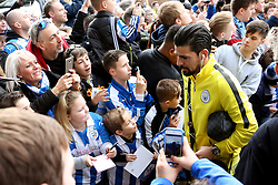 Huddersfield Town fans take pictures as Nolito of Manchester City arrives at the stadium - Mandatory by-line: Matt McNulty/JMP - 18/02/2017 - FOOTBALL - The John Smith's Stadium - Huddersfield, England - Huddersfield Town v Manchester City - Emirates FA Cup fifth round