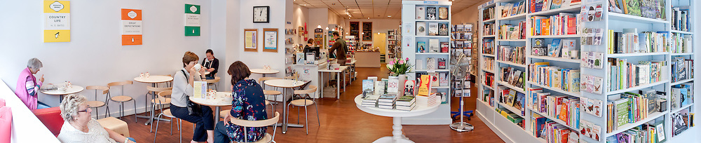 Booka Bookshop interior commercial photography by Stonehouse Photographic.