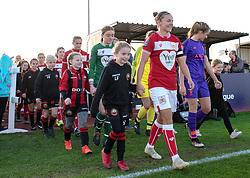 Bristol City Women players and mascots from Gloucester City LFC - Mandatory by-line: Paul Knight/JMP - 17/11/2018 - FOOTBALL - Stoke Gifford Stadium - Bristol, England - Bristol City Women v Liverpool Women - FA Women's Super League 1