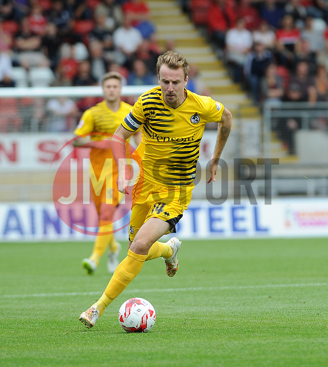 Chris Lines of Bristol Rovers - Mandatory byline: Neil Brookman/JMP - 07966386802 - 29/08/2015 - FOOTBALL - Matchroom Stadium -Leyton,England - Leyton Orient v Bristol Rovers - Sky Bet League Two