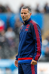 Manchester United Assistant Manager Ryan Giggs looks on - Mandatory byline: Rogan Thomson/JMP - 07966 386802 - 30/08/2015 - FOOTBALL - Liberty Stadium - Swansea, Wales - Swansea City v Manchester United - Barclays Premier League.