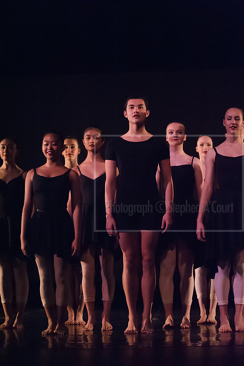 Wellington, NZ. 6.12.2015. Song of the Forest, from the Wellington Dance & Performing Arts Academy end of year stage-show 2015. Senior School Show, Sunday 7.45pm. Photo credit: Stephen A'Court.  COPYRIGHT ©Stephen A'Court