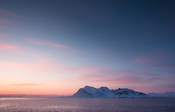Hornsund in March, Svalbard, Norway