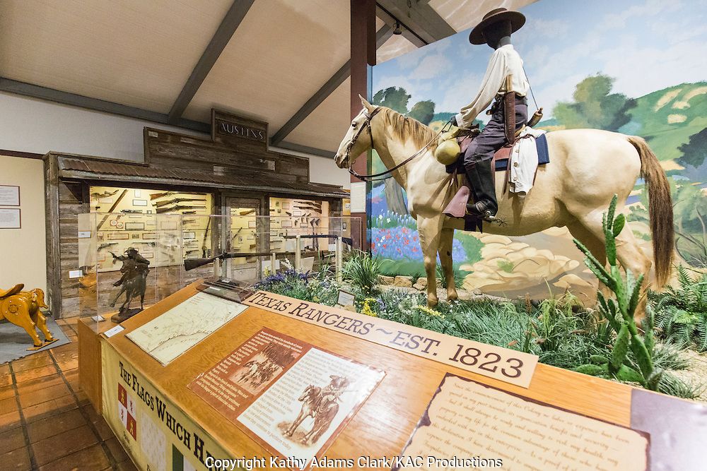 The Texas Ranger Hall of Fame and Museum in Waco, Texas, celebrates famous Texas Rangers as well as the ranger law enforcement efforts in Texas.