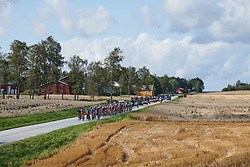 The peloton approach during Ladies Tour of Norway 2019 - Stage 2, a 131 km road race from Mysen to Askim, Norway on August 23, 2019. Photo by Sean Robinson/velofocus.com