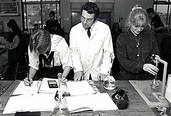 Chemistry lesson, Secondary school, Nottingham, UK 1992
