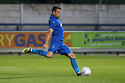 AFC Wimbledon attacker Adam Roscrow scoring goal during the Pre-Season Friendly match between AFC Wimbledon and Bristol City at the Cherry Red Records Stadium, Kingston, England on 9 July 2019.