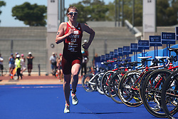 Jolanda Annen of Switzerland during the Elite Women race of the Discovery Triathlon World Cup Cape Town leg held at Green Point in Cape Town, South Africa on the 11th February 2017.<br /> <br /> Photo by Shaun Roy/RealTime Images