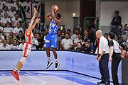 DESCRIZIONE : Campionato 2014/15 Serie A Beko Dinamo Banco di Sardegna Sassari - Grissin Bon Reggio Emilia Finale Playoff Gara4<br /> GIOCATORE : Rakim Sanders<br /> CATEGORIA : Tiro Tre Punti Three Point Controcampo<br /> SQUADRA : Dinamo Banco di Sardegna Sassari<br /> EVENTO : LegaBasket Serie A Beko 2014/2015<br /> GARA : Dinamo Banco di Sardegna Sassari - Grissin Bon Reggio Emilia Finale Playoff Gara4<br /> DATA : 20/06/2015<br /> SPORT : Pallacanestro <br /> AUTORE : Agenzia Ciamillo-Castoria/L.Canu