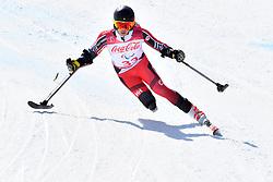 LUSCOMBE Braydon LW2 CAN competing in ParaSkiAlpin, Para Alpine Skiing, Super G at PyeongChang2018 Winter Paralympic Games, South Korea.