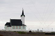 The small chapel (Stegelnes chapell) just south of Vardöhus fortress in the city of Vardö in Finnmark county, northern Norway.