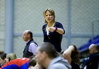 ROTTERDAM - Janne Schopman, coach SCHC. NK Zaalhockey hoofdklasse. FOTO KOEN SUYK