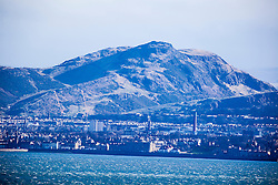 Arthur's Seat. Edinburgh as seen from the A921 near Burntisland, Fife.