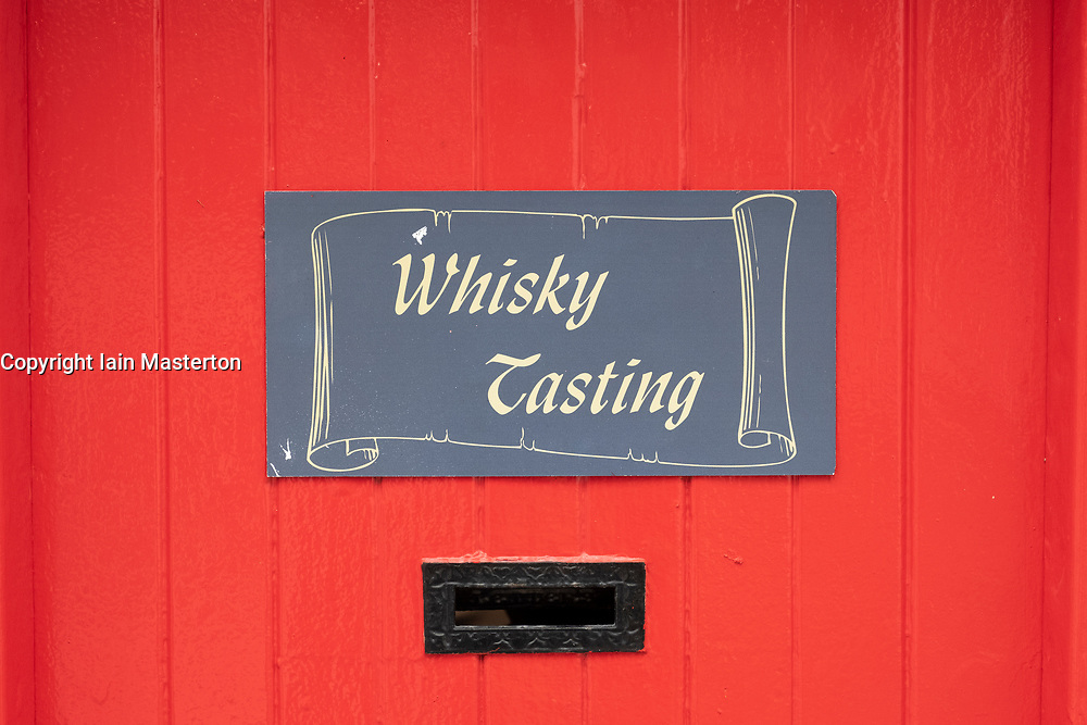 Whisky tasting room at  Edradour Distillery in Pitlochry, Scotland, United Kingdom
