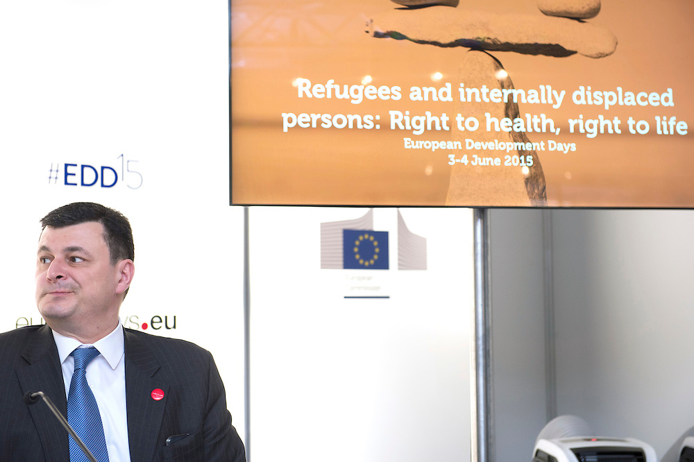 03 June 2015 - Belgium - Brussels - European Development Days - EDD - Health - Refugees and internally displaced persons - Right to health , right to life -Alexander Kvitashvili<br /> Minister of Health, Ukraine &copy; European Union