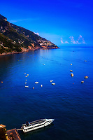 &quot;A view from Positano to Praiano of the blue skies reflected in the Mediterranean Sea&quot;...<br />