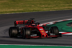 February 28, 2019 - Barcelona, Catalonia, Spain - Charles Leclerc from Monaco with 16 of Scuderia Ferrari Mission Winnow SF90 in action   during the Formula 1 2019 Pre-Season Tests at Circuit de Barcelona - Catalunya in Montmelo, Spain on February 28. (Credit Image: © Xavier Bonilla/NurPhoto via ZUMA Press)