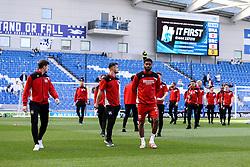 Bristol City players walk around the pitch at the Amex Stadium prior to kick off - Mandatory by-line: Jason Brown/JMP - 29/04/2017 - FOOTBALL - Amex Stadium - Brighton, England - Brighton and Hove Albion v Bristol City - Sky Bet Championship