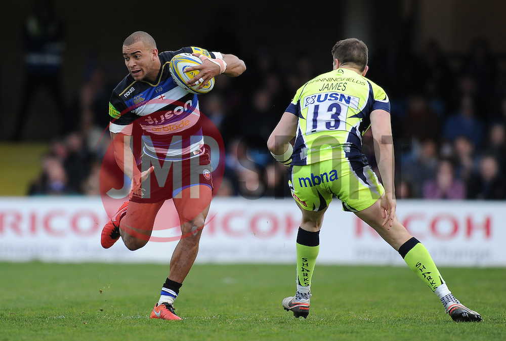 Jonathen Joseph of Bath Rugby in action.  - Mandatory by-line: Alex Davidson/JMP - 23/04/2016 - RUGBY - Recreation Ground - Bath, England - Bath Rugby v Sale Sharks - Aviva Premiership
