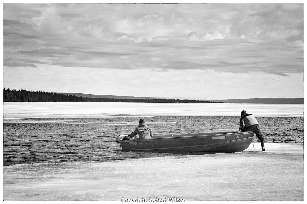 Deerpass Bay Fish Camp.Deline, NT.Great Bear Lake.May 2010