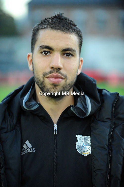 Oualid EL HAJJAM of Amiens  during the Ligue 2 match between Bourg en Bresse and Amiens SC at Stade Marcel-Verchere on October 14, 2016 in Bourg-en-Bresse, France. (Photo by Jean Paul Thomas/Icon Sport)