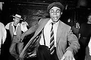 Chris dancing at Talking Loud & Saying Something, Dingwalls, Camden, London, late 1980s