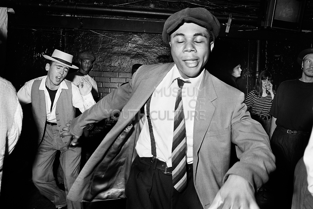 Chris dancing at Talking Loud & Saying Something, Dingwalls, Camden, London, late 1980s