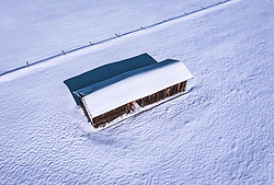 THEMENBILD - ein Heustadel in der winterlandschaft, aufgenommen am 16. Januar 2019 in Kaprun, Oesterreich // a hay barn in the winter landscape in Kaprun, Austria on 2019/01/15. EXPA Pictures © 2019, PhotoCredit: EXPA/ JFK