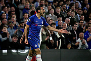 Chelsea FC defender Davide Zappacosta (21) is not happy with this decision during the Europa League match between Chelsea and MOL Vidi at Stamford Bridge, London, England on 4 October 2018.