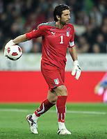 Fussball International, Nationalmannschaft   EURO 2012 Qualifikation, Slowenien - Italien          25.03.2011 Gianluigi Buffon (Italien)