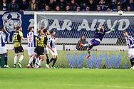 Voetbal Heerenveen Eredivisie 2014-2015 SC Heerenveen - Vitesse: goalkeeper Kristoffer Nordveldt (SC Heerenveen)