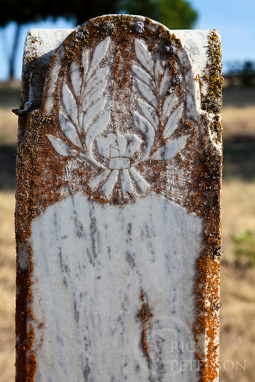 marble gravestone detail
