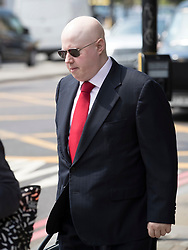 © Licensed to London News Pictures. 22/05/2018. London, UK. Matt Lucas attends the funeral of television presenter Dale Winton at Commonwealth Church in Marylebone, London. Dale Winton, who was found dead at his home on April 18, was famous for presenting Supermarket Sweep and National Lottery game show. Photo credit: Peter Macdiarmid/LNP