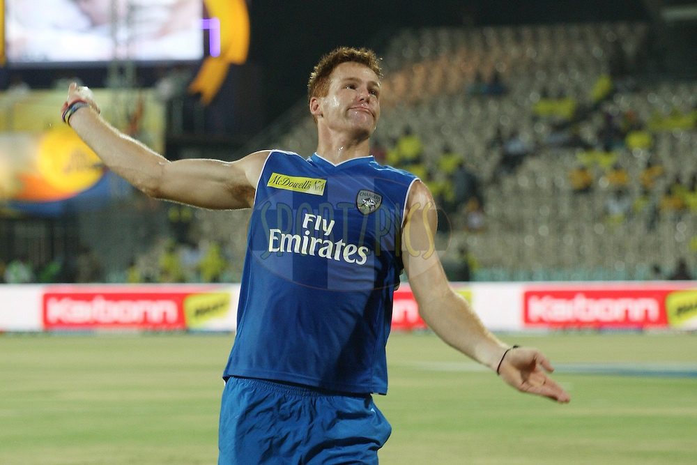 Rusty Theron before the start of match 46 of the the Indian Premier League ( IPL) 2012  between The Chennai Superkings and the Deccan Chargers held at the M. A. Chidambaram Stadium, Chennai on the 4th May 2012..Photo by Jacques Rossouw/IPL/SPORTZPICS