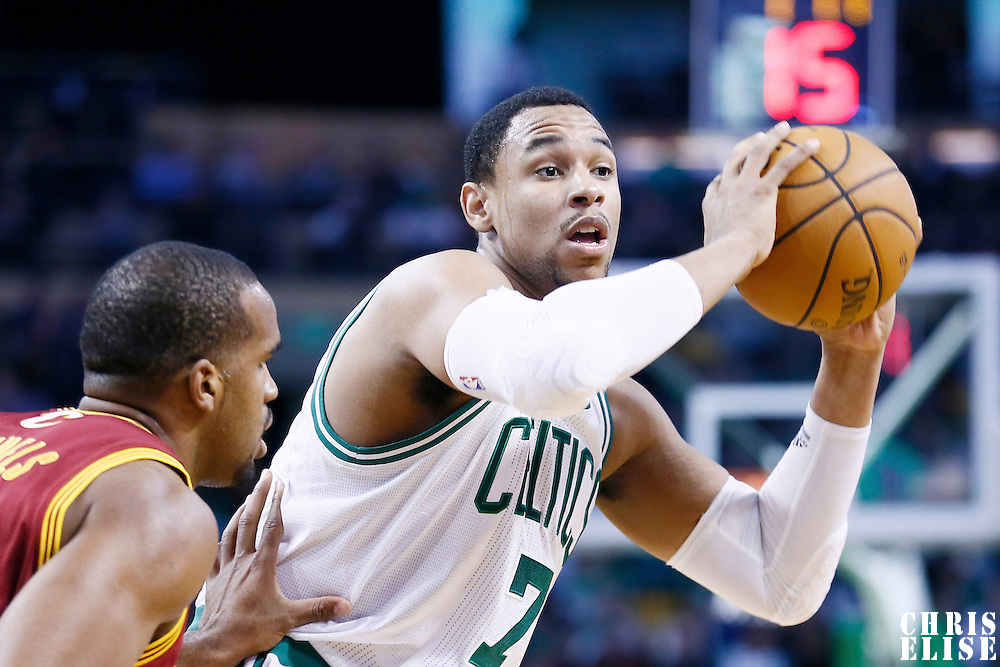 19 December 2012: Boston Celtics power forward Jared Sullinger (7) looks to pass the ball during the Boston Celtics 103-91 victory over the Cleveland Cavaliers at the TD Garden, Boston, Massachusetts, USA.