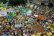 Belo Horizonte_MG, Brasil.<br /> <br /> Manifestacao pedindo o impeachment da Presidente Dilma Rosself na praca da liberdade in Belo Horizonte, Minas Gerais.<br /> <br /> Demonstration for the impeachment of President Dilma Rousseff in the Liberdade Square in Belo Horizonte, Minas Gerais.<br /> <br /> Foto: RODRIGO LIMA / NITRO