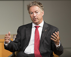 July 27, 2017 - Washington, DC, U.S - Senator RAND PAUL (R-KY) speaking on ''The Future of Surveillance: Reform, Repeal, or Renewal for Section 702?'' at the CATO Institute in Washington, DC on July 27, 2017. (Credit Image: © Michael Brochstein via ZUMA Wire)