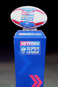 The Betfred Super League Match Ball prior to the Betfred Super League match between Hull FC and Leeds Rhinos at Kingston Communications Stadium, Hull, United Kingdom on 19 April 2018. Picture by Mick Atkins.