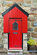 Typical Welsh stone cottage at Beddgelert, Gwynedd, Wales