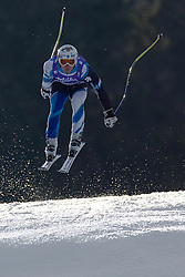 12.02.2011, Kandahar, Garmisch Partenkirchen, GER, FIS Alpin Ski WM 2011, GAP, Herren Abfahrt, im Bild Paul De-La-Cuesta (SPA) takes to the air competing in the men's downhill race on the Kandahar race piste at the 2011 Alpine skiing World Championships, EXPA Pictures © 2010, PhotoCredit: EXPA/ M. Gunn