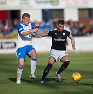 16th September 2017, Dens Park, Dundee, Scotland; Scottish Premier League football, Dundee versus St Johnstone; Dundee's Randy Wolters and St Johnstone's Brian Easton
