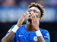 Football - 2019 / 2020 Premier League - Chelsea vs. Sheffield United<br /> <br /> Chelsea's Tammy Abraham celebrates scoring his side's second goal, at Stamford Bridge.<br /> <br /> COLORSPORT/ASHLEY WESTERN