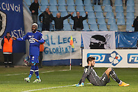 Joie Bastia - Djibril CISSE / Deception Rennes - Benoit COSTIL - 13.01.2015 - Bastia / Rennes - 1/4Finale Coupe de la Ligue -<br />