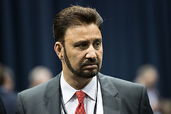 © Licensed to London News Pictures . 08/06/2017 . Manchester , UK . AFZAL KHAN of Labour Party at the Manchester Central Convention Centre where the count for the constituencies of Blackley and Broughton, Manchester Central, Manchester Gorton, Manchester Withington and Wythenshawe and Sale East, in the General Election, is taking place . Photo credit : Joel Goodman/LNP
