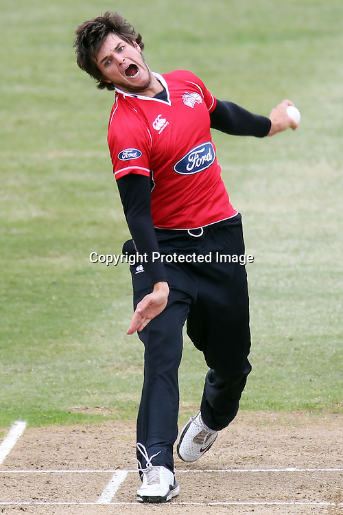 Ryan McCone during the Ford Trophy match between the Auckland Aces and Canterbury Wizards. Men's domestic one day cricket. Colin Maiden Park, Auckland, New Zealand. Wednesday 14 December 2011. Ella Brockelsby / photosport.co.nz