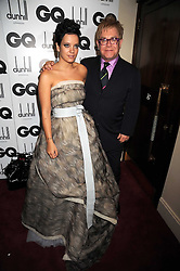 LILY ALLEN and ELTON JOHN at the GQ Men of the Year Awards held at the Royal Opera House, London on 2nd September 2008.<br /> <br /> NON EXCLUSIVE - WORLD RIGHTS