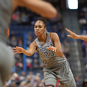 HARTFORD, CONNECTICUT- NOVEMBER 19: Azura Stevens #23 of the Connecticut Huskies in action during the the UConn Huskies Vs Maryland Terrapins, NCAA Women's Basketball game at the XL Center, Hartford, Connecticut. November 19th, 2017 (Photo by Tim Clayton/Corbis via Getty Images)