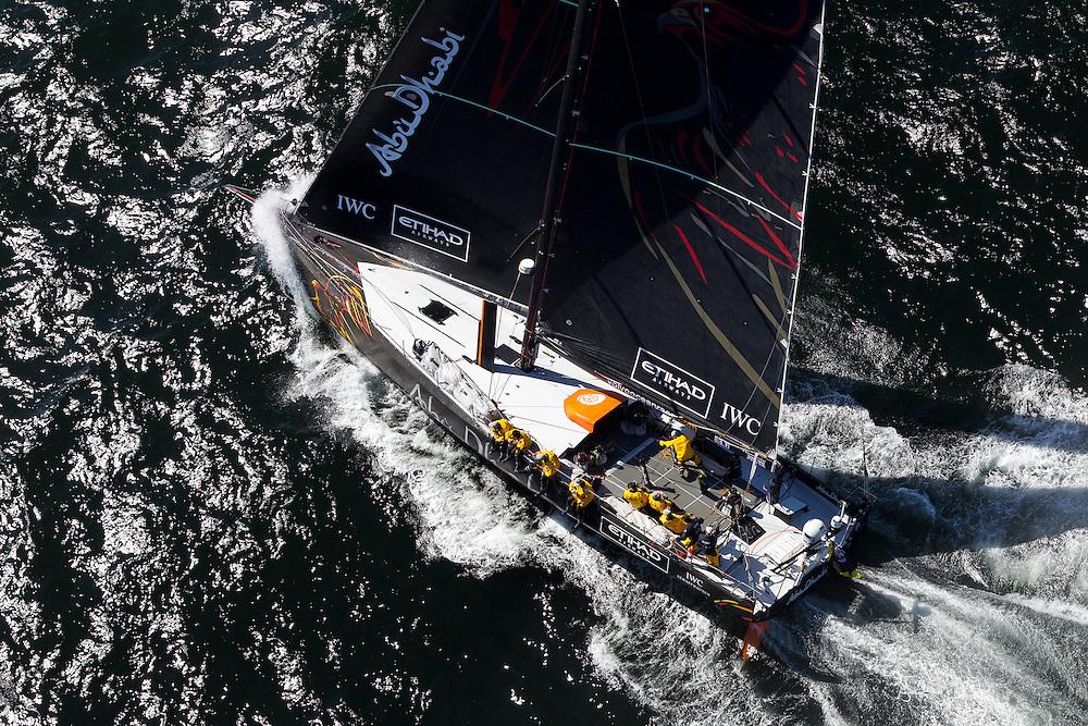 SOUTH AFRICA. 11th December 2011. Volvo Ocean Race. Start of Leg 2, Cape Town to Abu Dhabi. Abu Dhabi Ocean Racing.